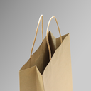ZDPACK | PAPER BAG BROWN TWISTED HANDLE 23x26x10 cm | 250 Pieces