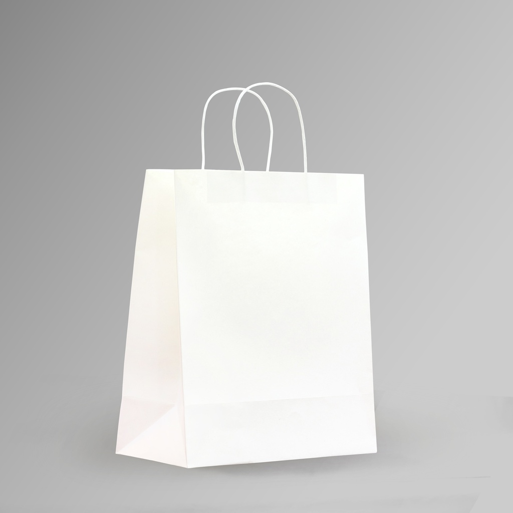 ZDPACK | PAPER BAG WHITE TWISTED HANDLE 28x33x15 cm | 250 Pieces