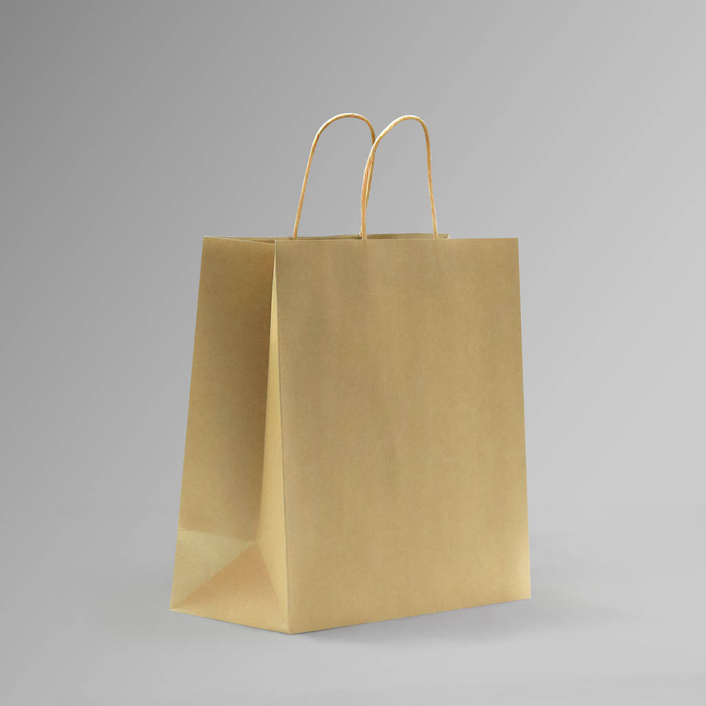 ZDPACK | PAPER BAG BROWN TWISTED HANDLE 30x31x14 cm | 250 Pieces