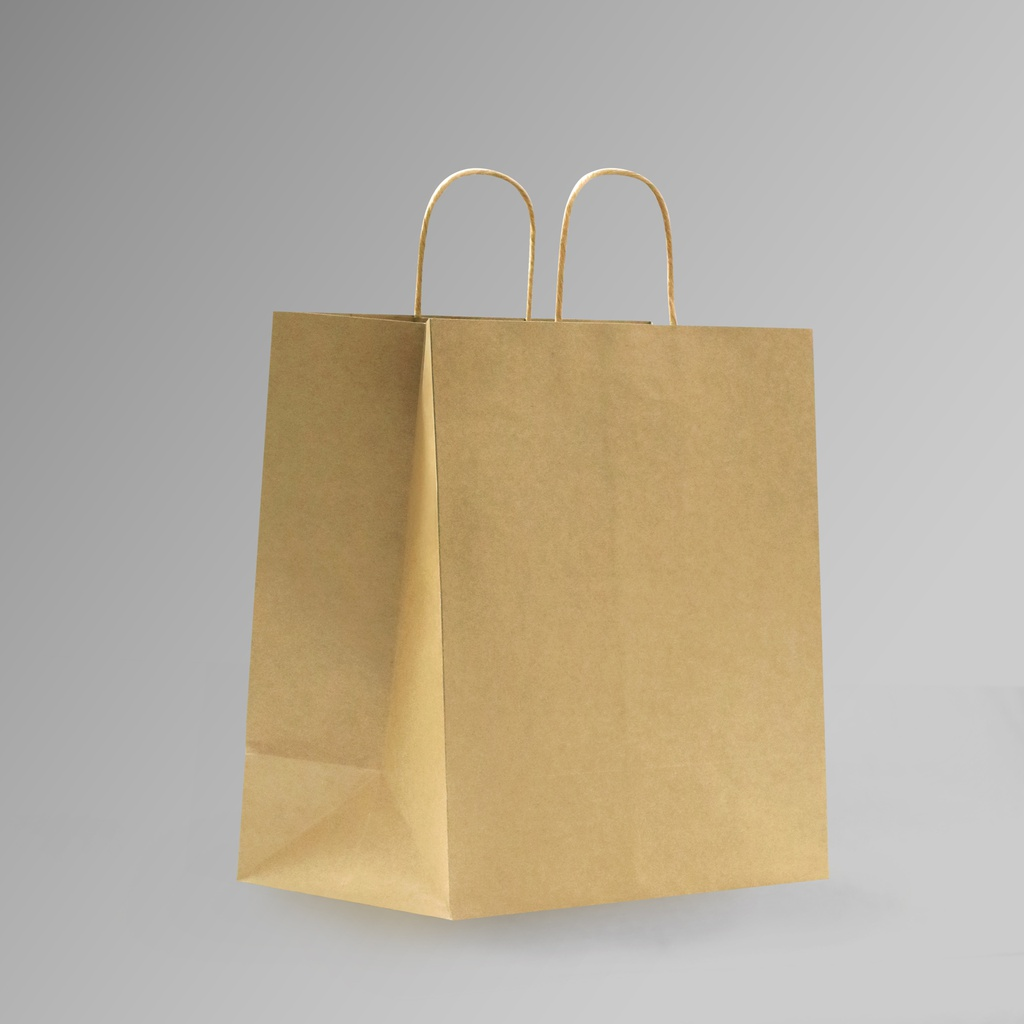 ZDPACK | PAPER BAG BROWN TWISTED HANDLE 35x35x17 cm | 250 Pieces