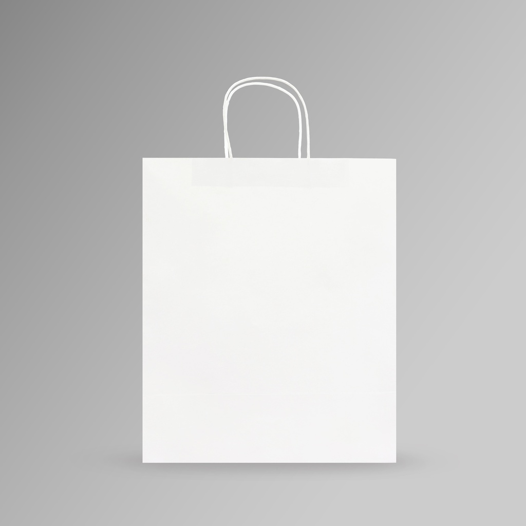 ZDPACK | PAPER BAG WHITE TWISTED HANDLE 31x37x17 cm | 250 Pieces