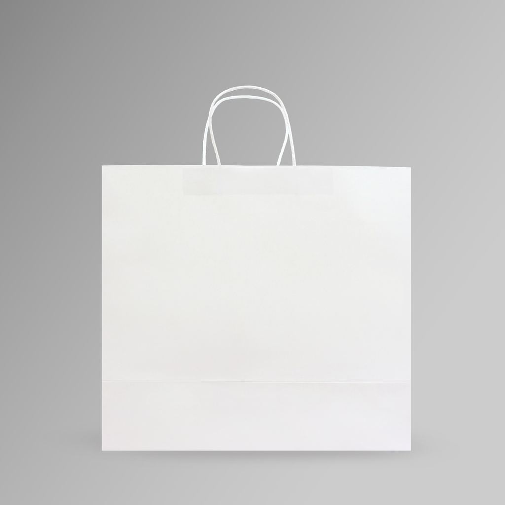 ZDPACK | PAPER BAG WHITE TWISTED HANDLE 40x35x17 cm | 250 Pieces