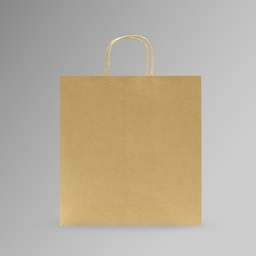 [35x35x17] ZDPACK | PAPER BAG BROWN TWISTED HANDLE 35x35x17 cm | 250 Pieces