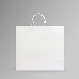 [40x35x17] ZDPACK | PAPER BAG WHITE TWISTED HANDLE 40x35x17 cm | 250 Pieces