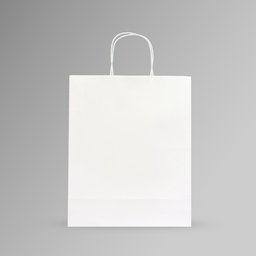 [33x40x15] ZDPACK | PAPER BAG WHITE TWISTED HANDLE 33x40x15 cm | 250 Pieces