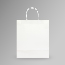 [28x33x15] ZDPACK | PAPER BAG WHITE TWISTED HANDLE 28x33x15 cm | 250 Pieces